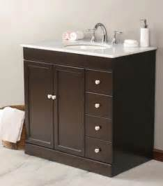 Vanities And Sinks Virtu Usa 36 Quot Modena Espresso White Marble Single Sink