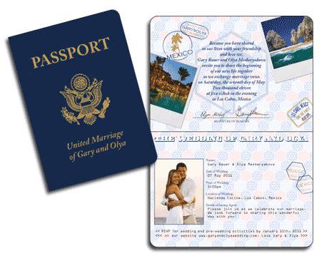 passport invitation template free realistic usa passport invitation casual wedding