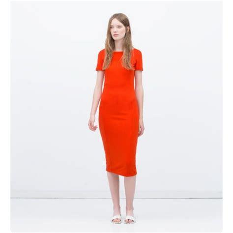 Dress Bodycon Zara zara midi bodycon dress s fashion clothes