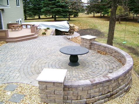 Raised Paver Patio Raised Paver Patio With Retaining Walls Stairs Deck And Seating Wall Oasis Landscapes