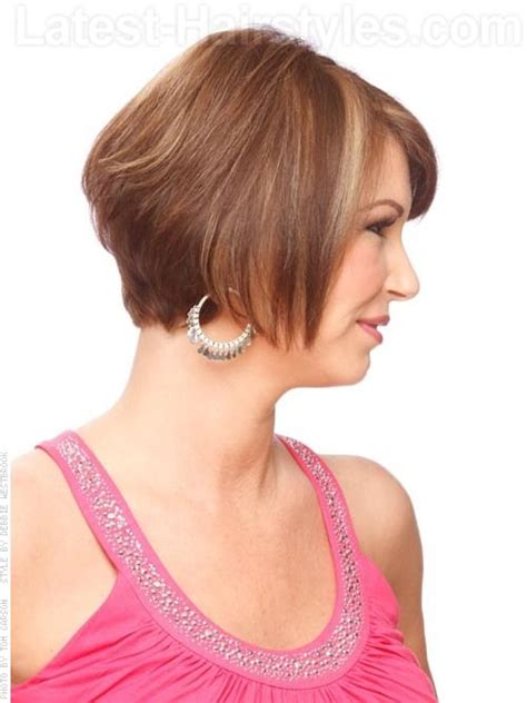 over the ear short stacked hair chic and classy hairstyles for the ladies over 50 s