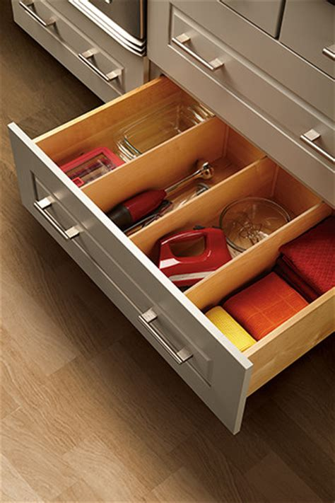 kitchen cabinet divider organizer deep drawer divider kitchen drawer organizers minneapolis by mid continent cabinetry