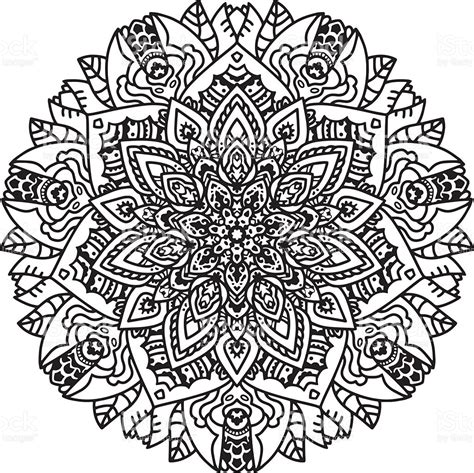 imagenes de unicornios blanco y negro blanco y negro mandala arte vectorial de stock y m 225 s
