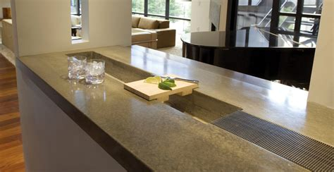 concrete bar top forms concrete bar top with integral ice bucket cheng concrete exchange