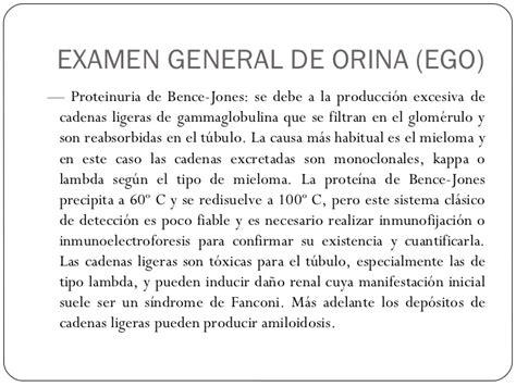 cadenas ligeras kappa y lambda valores normales examen general de orina