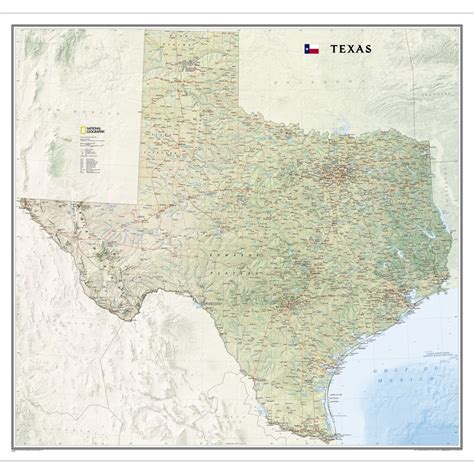 texas in the map texas wall map national geographic store