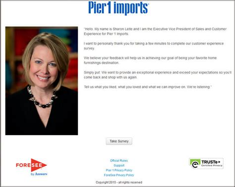 Pier 1 Sweepstakes - pier 1 survey guide customer survey assist