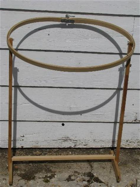 Quilting Frames And Stands by Oval Wood Quilting Frame Needlework Embroidery Hoop On Stand