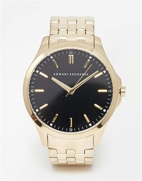 armani exchange armani exchange gold stainless steel