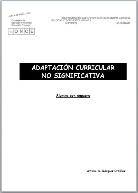 Modelo Adaptacion Curricular Significativa Ingles equipo de visuales de granada adaptaci 243 n curricular no