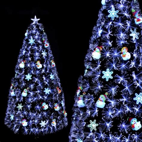 luxury 1 5m 5ft fiber optic christmas tree w snowman for