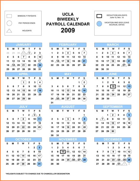 pay period calendar bi weekly  payroll calendars