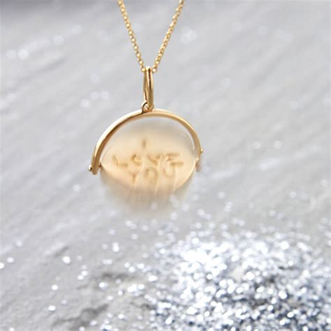 Pendant Necklace Gold With I You gold vermeil i you spinner disc necklace hurleyburley