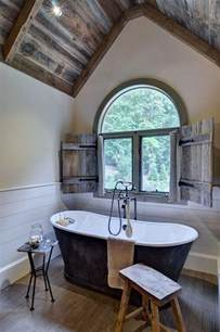Cabin Chandelier Rustic Farmhouse Bathroom Ideas Hative