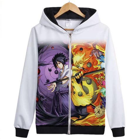 Hoodie Zipper Anime Uchiha Sasuke Jaket Keren 9 hoodie new anime kakashi uchiha sasuke sharingan coat uzumaki jacket