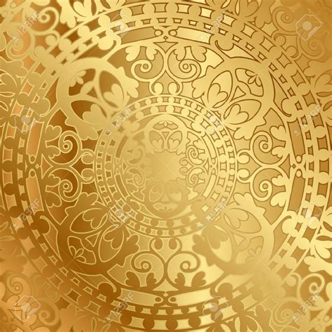 golden pattern history golden background with oval frame and floral ornaments