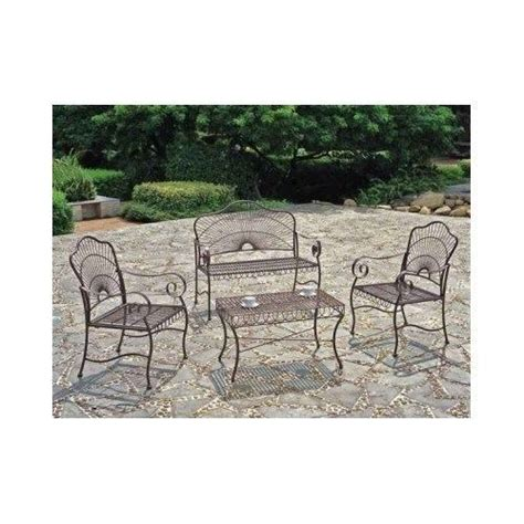 wrought iron loveseat bench 19 best images about outdoor wrought iron table chairs on