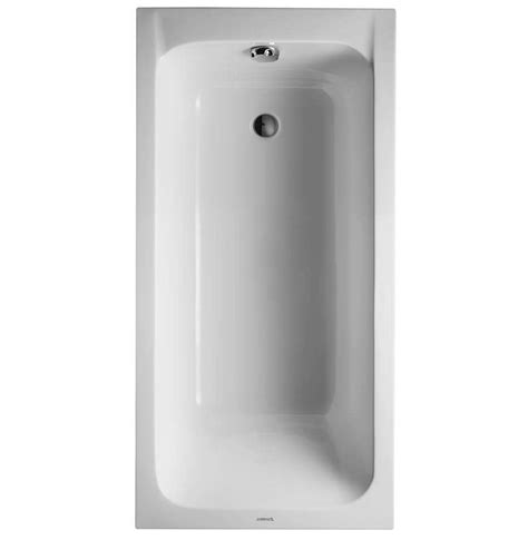 bathtub outlet duravit d code 1500 x 750mm built in bathtub without feet