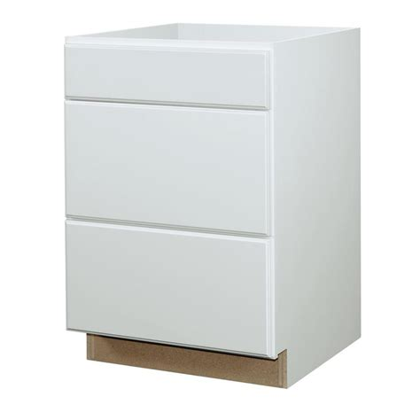Kitchen Classics Cabinets Shop Kitchen Classics Concord 24 In W X 35 In H X 23 75 In D White Drawer Base Cabinet At Lowes