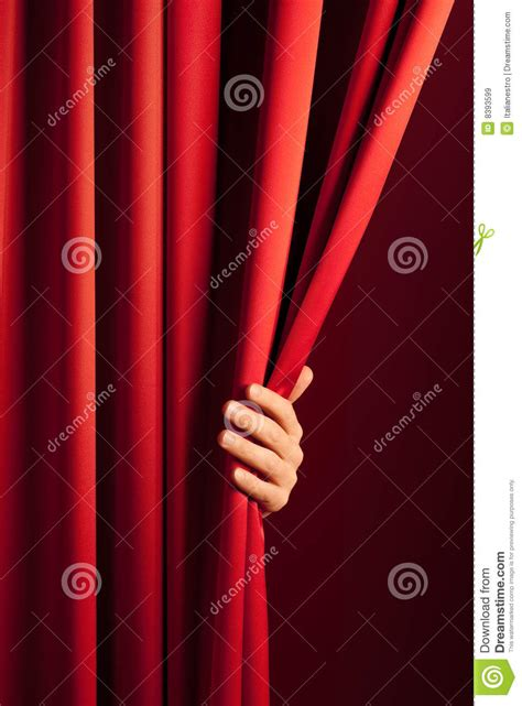 opening the curtain opening the red curtain royalty free stock images image