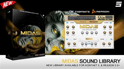 Sound Library Kontakt prosoundz midas sound library kontakt 5 reason