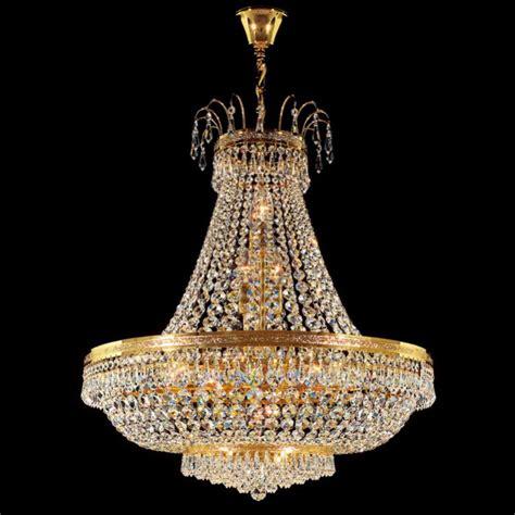 Victorian Chandeliers Uk Lustre Cristal Plaqu 233 Or Empire 65 Cm Kolarz 233 Clairage