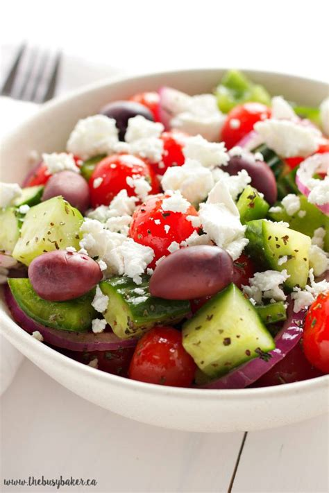 easy salad quick and easy greek salad