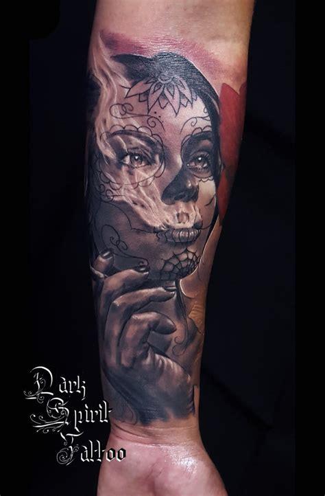 tatoueur perpignan tatouage santa muerte dark spirit tattoo