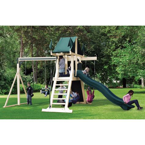 Swing Kingdom Vinyl Swing Sets And Outdoor Playsets At