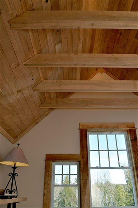 Hardwood On Ceiling by Loft Office Remodel Reclaimed Birch Floors And Ceiling Traditional Hardwood Flooring