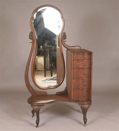 antique vanity mirror with drawers vintage quarter sawn oak deco vanity dresser with tall