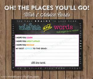 oh the places wish cards advice cards printable open house dr seuss chalkboard neon