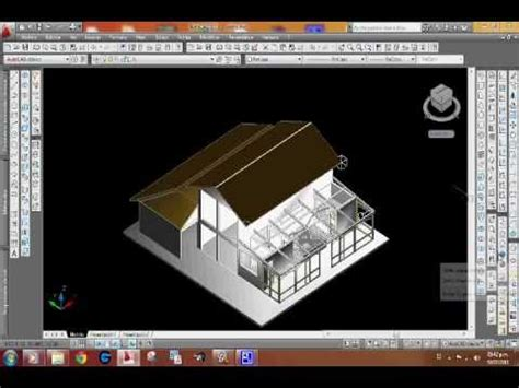tutorial rendering autocad 2010 autocad 2010 house render 3d youtube