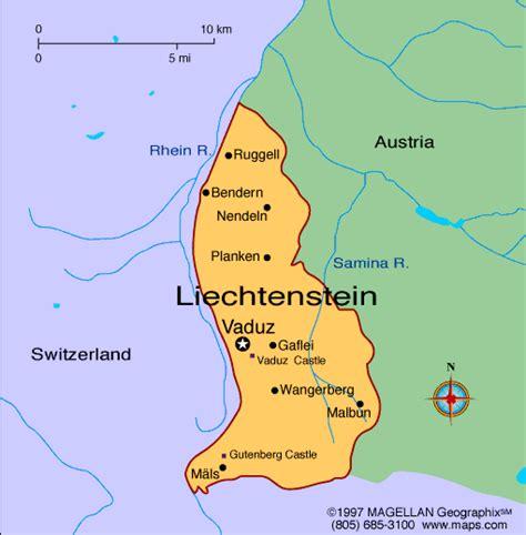 where is liechtenstein on a map liechtenstein map maps of liechtenstein europe