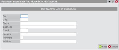 elenco abi banche italiane inserire la banca dettaglio pillola