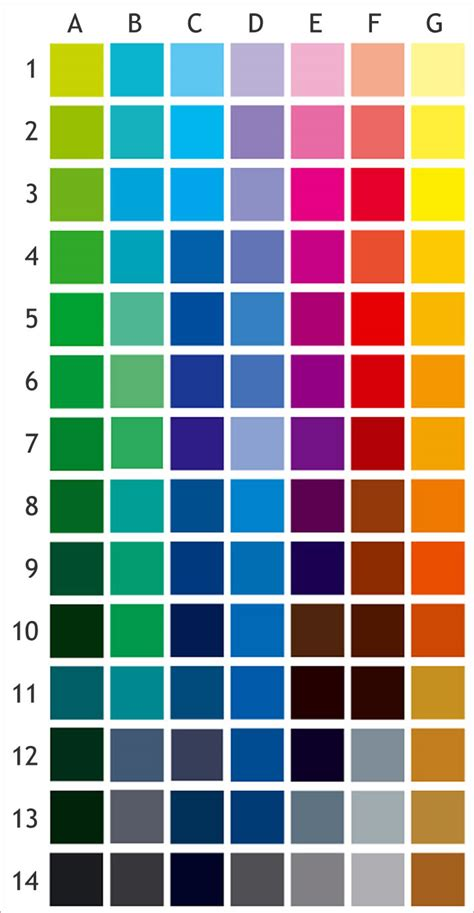 pantone metallic color chart