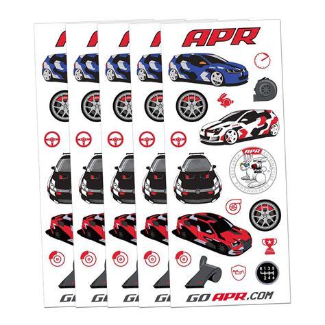 Cuttting Sticker Stiker Msd apr merchandise store apr die cut sticker sheets set of 5