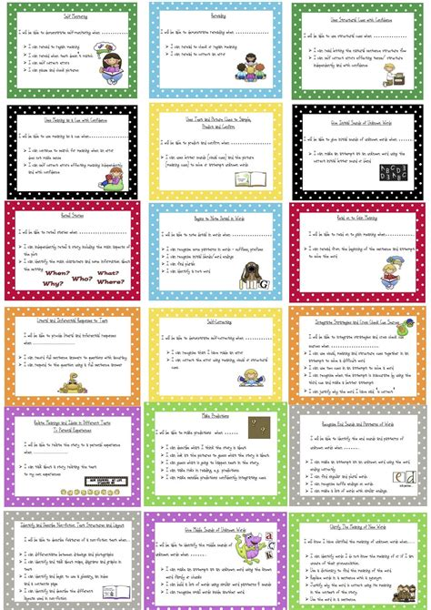 Target Card Template Ks2 by Reading Learning Intention Success Criteria Cards