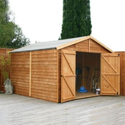 15 X 10 Shed by 15 X 10 Windowless Overlap Apex Garden Wooden Shed