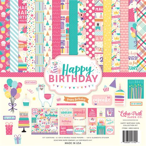 collections echo park paper  happy birthday girl