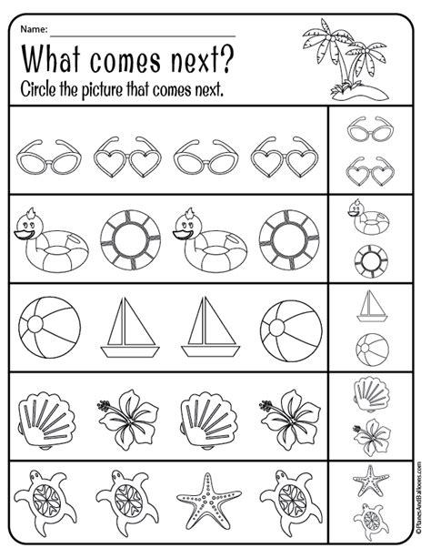 summer worksheets for pre k irresistible summer worksheets pdf printables for pre k