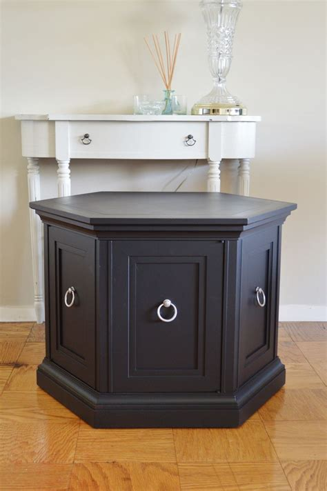 refinishing end table ideas black updated octagon end table search