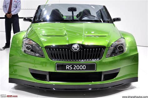 2012 auto expo skoda auto showcased fabia monte carlo