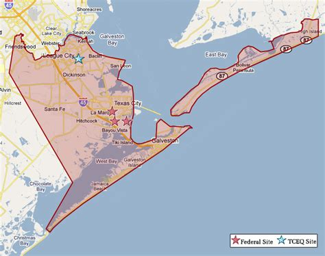 galveston map superfund in galveston county tceq www tceq gov