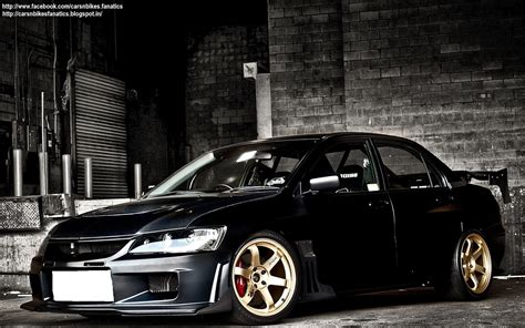 mitsubishi modified wallpaper car bike fanatics modified mitsubishi evolution 9 hd