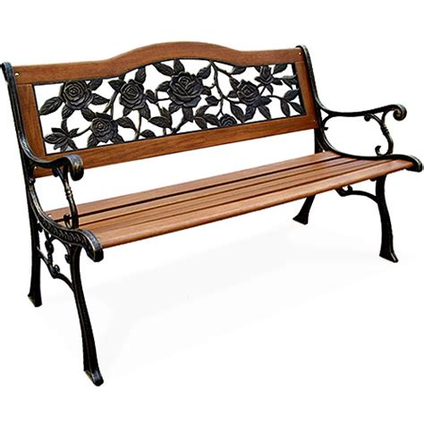 walmart outdoor bench cast iron camel back bench bronze finish walmart com
