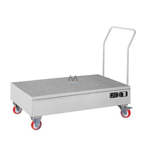 vasca di contenimento vasca di contenimento mobile zincata per 2 fusti mito