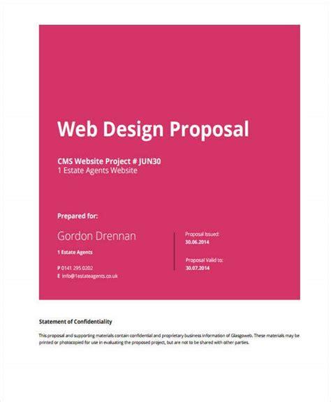 website design proposal templates  google docs