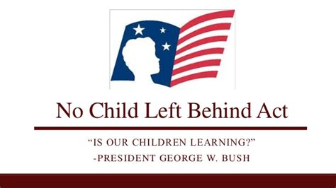 no left no child left act of 2001