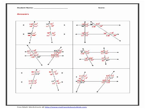 angle relationships worksheets for geometry google line and angle relationships worksheet answers worksheet